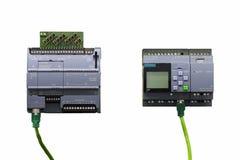 Automatische programmierbare Ausrüstung hoher Präzision Logik-Prüfer PLC für industrielles lokalisiert auf weißem backgrond stockfotos
