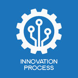 Automatische Prozessikone Stockfotos