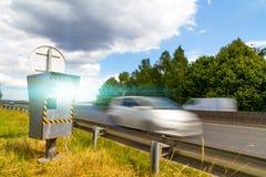 Automatische snelheidscamera Stock Foto's