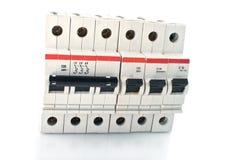 Automatische stroomonderbreker. Stock Afbeeldingen