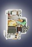 Automatische stroomonderbrekerdwarsdoorsnede Royalty-vrije Stock Foto