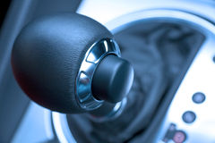 Automatische transmissieknop Stock Foto's