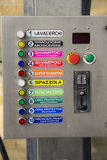 Automatischer Autowaschmaschineselektor Stockfotografie