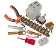Automatischer Leistungsschalter und Werkzeuge Lizenzfreies Stockbild