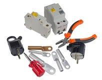 Automatischer Leistungsschalter und Werkzeuge Stockbilder
