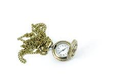 Automatischer Uhr-Medaillon gotische Lolita Necklace stockfotos