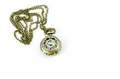 Automatischer Uhr-Medaillon gotische Lolita Necklace stockbild
