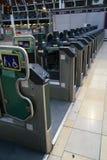 Automatisches Karten-Tor in Bahnhof Paddington Stockfoto