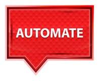 Automatiseer nevelig toenam roze bannerknoop royalty-vrije illustratie