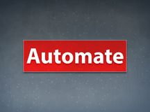 Automatiseer Rode Banner Abstracte Achtergrond stock illustratie