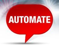 Automatiseer Rode Bellenachtergrond stock illustratie