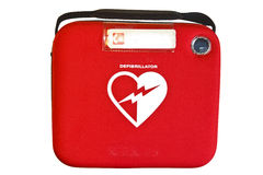 Automatiserad extern Defibrillator eller AED royaltyfri bild