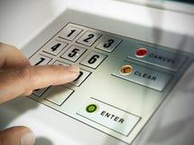 Automatiserad kassörmaskin, ATM Royaltyfri Foto