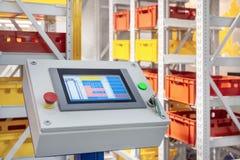 Automatiserad lagerkontrollbord royaltyfri bild