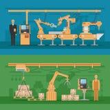 Automatiserade enhetssammansättningar vektor illustrationer