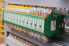 Automatiserade processkontrollsystem, strömförsörjningar, kontrollant Hög-precision utrustning för bruk i maktbranschen Royaltyfri Fotografi