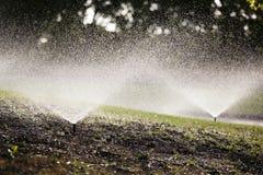 automatiserat sprinklersvatten arkivbild