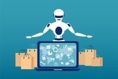 Automatisering van het verschepen procédé concept royalty-vrije illustratie