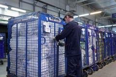 Automatisiert, Mitte des russischen Beitrags in St Petersburg sortierend lizenzfreie stockfotografie