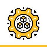 Automatisierte Lösung des Entwurfs Ikone Datenwissenschaftstechnologie und Lernfähigkeit- einer Maschineprozeß Passend für Druck, lizenzfreie stockfotografie