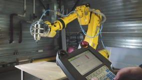 Automatisierter Woodcarver Carver mit Rechner-NC-Steuerung stock video footage