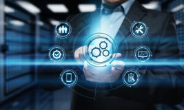 Automatisierungs-Software-Technologie-Prozess-System-Geschäftskonzept Stockbilder