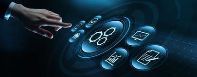Automatisierungs-Software-Technologie-Prozess-System-Gesch?ftskonzept lizenzfreie stockfotos