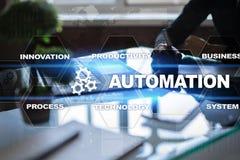 Automatisierungskonzept als Innovation, Produktivität in der Technologie und in den Geschäftsprozessen verbessernd lizenzfreie stockfotografie