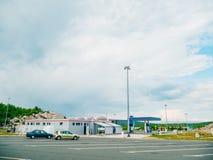 Automatisk bensinstation Arkivfoto