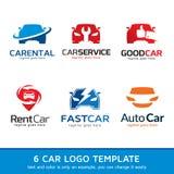 Automatisk bil Logo Template Design Arkivbilder