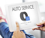 Automatisk bilmekaniker Garage Service Concept Royaltyfria Bilder