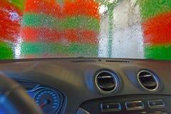 automatisk bilwash Royaltyfri Fotografi