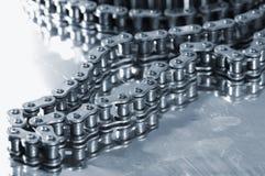 automatisk chain tajming för tung industri royaltyfria foton
