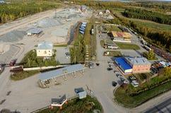 Automatisk gas-fyllning station Tyumen Ryssland Arkivbild
