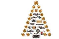 automatisk jultree royaltyfri bild