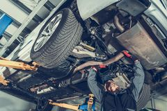 Automatisk mekaniker Job arkivfoto