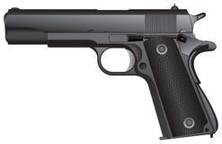 automatisk pistol stock illustrationer