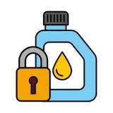 Automatisk service för gal.oljasäkerhet vektor illustrationer