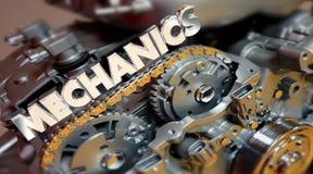 Automatisk tekniker Job Engine för mekaniker Royaltyfri Illustrationer