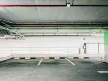 Automatisk teknologikontroll för tomt område av bilparkeringsgränden in Royaltyfri Bild