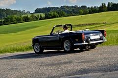 Automatisk 1968 Triumph TR250 Arkivfoton