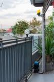 Automatiska portar för glidbanahusmetall Royaltyfri Foto