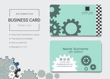 Automatiskt affärskort eller mall för känt kort royaltyfri illustrationer