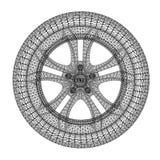 Automatiskt begrepp av hjulet Royaltyfri Fotografi
