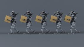 Automatização Generative - ilustração 3D imagens de stock royalty free