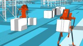 Automatização Generative - ilustração 3D foto de stock royalty free
