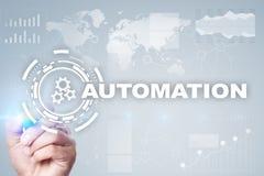Automatización de proceso del negocio y de fabricación, industria elegante, innovación y concepto moderno de la tecnología foto de archivo