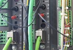 Automatización del PLC Fotografía de archivo libre de regalías