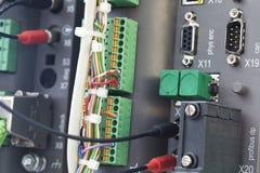 Automatización del PLC Foto de archivo