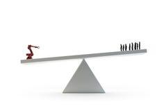 Automatización industrial ilustración del vector